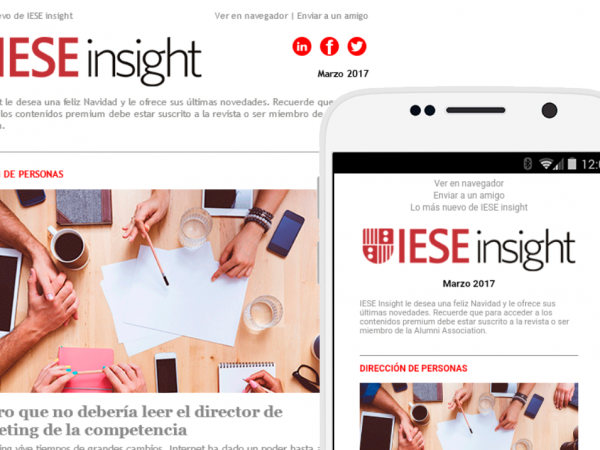 Plantilla email marketing IESE