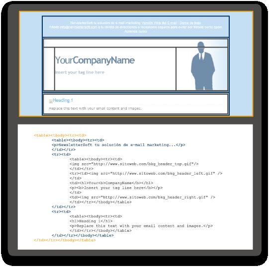 Newsletter de muestra que ofrece la herramienta de email marketing de newslettersoft