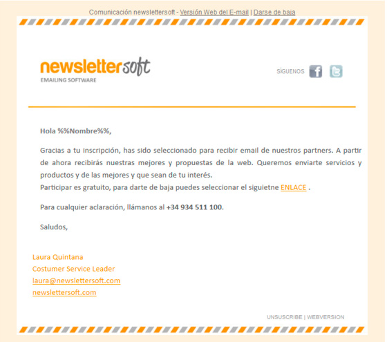 Welcome Pack campaña email marketing