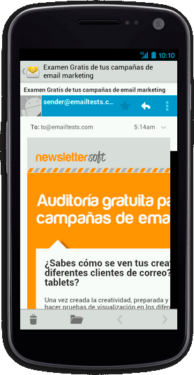 Plantilla de newsletter compatible con dispositivos móvil - iphone5