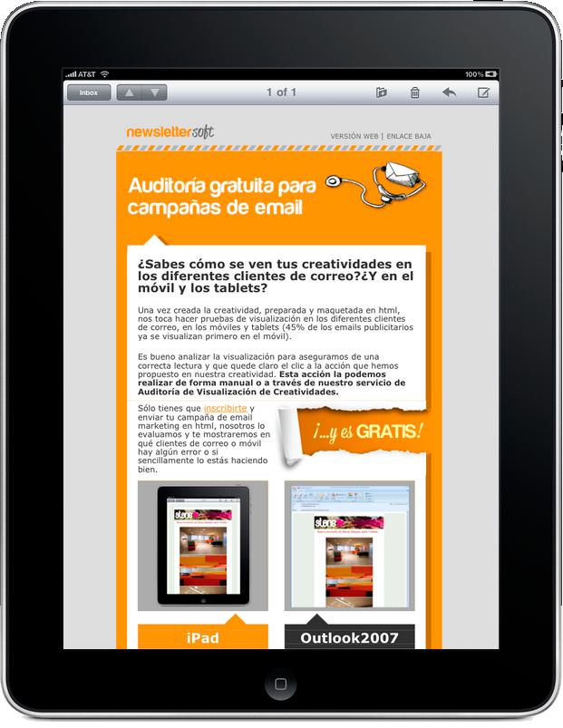 Plantilla para newsletter window phone 7
